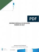 Informe-Febrero-2017 Secretaría de Obras Sociales de la Esposa del Presidente