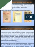La Poesía en Los Años 40 y 50
