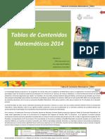 Tablas Matematicas 2014