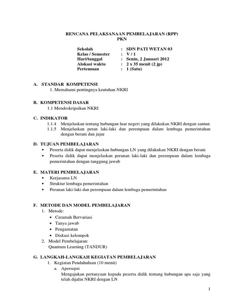 Rpp Pkn Semester 1