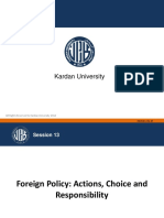 Foreign Policy Actions Choice and Responsibility