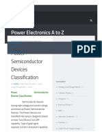 Power Semiconductor Devices Classification