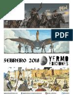 NOVEDADES Yermo Ediciones para Febrero 2018
