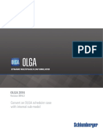 Converting an OLGA Server Case With Internal Submodel to Work With OLGA 2016