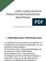 14. Recuperacion y Purificacion de Productos Biotecnologicos Industriales