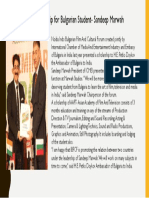 AAFT Scholarship for Bulgarian Student- Sandeep Marwah