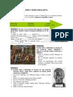 Rim u doba kraljeva - radni Listić