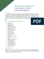 International Journal on Soft Computing ( IJSC )