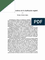 bases primitivas de la clasificación vegetal