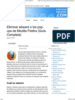Eliminar Adware o Los Pop-ups de Mozilla Firefox (Guía Completa)