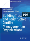 Building Trust and Constructive Conflict Management in Organizations