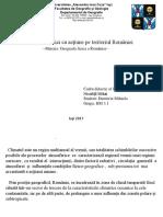 Factori Climatici Cu Actiune Pe Teritoriul Romaniei