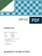 Grammar I- Word Class
