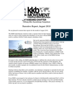 KKB August 2010 Report