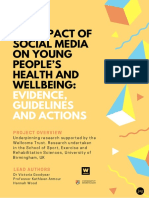 The Impact of Social Media on Young People's Health and Wellbeing