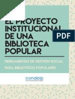 EL PROYECTO INSTITUCIONAL DE UNA BIBLIOTECA POPULAR