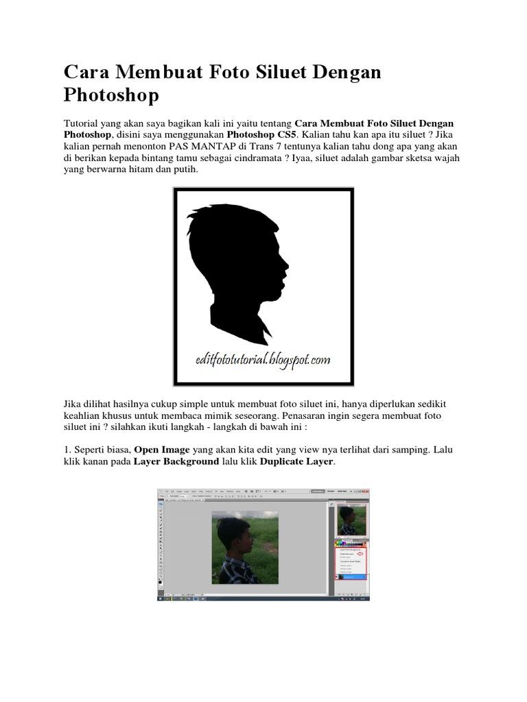 Cara Membuat Foto Siluet Dengan Photoshop