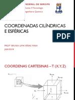 Fenômenos II - Aula Sobre Coord Cilíndricas e Esféricas
