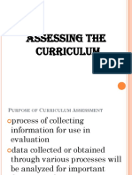 Assessing Curriculum Lec 3