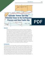 Struktur dan Kegempaan - Episodic Tremor and Slip