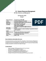 MAN 485 - Human Resources Management