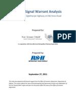 Flemington Curve Signal Warrants Analysis
