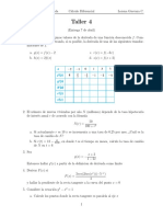Taller Calculo diferencial