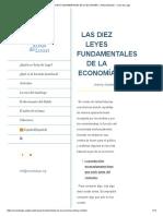 Las Diez Leyes Fundamentales de La Economía – Antony Mueller – Xoán de Lugo