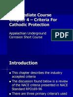 Intermediate-4-5 - Criteria for Cathodic Protection