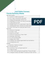 Course Summaries
