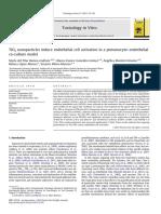 Nanopartículas de TiO2 inducen la activacion de células endoteliales en un modelo de cocultivo endotelial de neumocitos