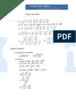 Ejercicios de repaso matemáticas de 3º-parte 1