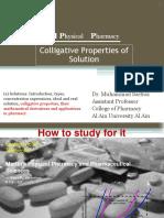 Colligative Properties of Solution (3rd Week) (1)