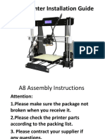 A8 3D Printer Installation Instructions-2016!6!30