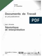 Almeida - Sémiotique Et Interprétation