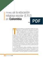3. Fines de La Educación Religiosa en Colombia