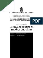 Lengua adicional al español (ingles) III