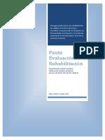Pauta Evaluación sala Rehabilitación