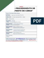 Ficha de Inscripcion Manifiesto de Carga - Doc. Agenciamiento