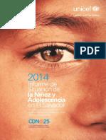 Analisis de Situacion de La Infancia El Salvador UNICEF 2014