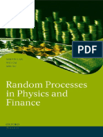 (Oxford Finance Series) Melvin Lax, Wei Cai, Min Xu-Random Processes in Physics and Finance-Oxford University Press, USA (2006)