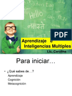 Aprendizaje e Inteligencias Multiples