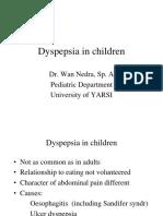 Dyspepsia in Children