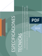 ESPECIFICACINES TECNICAS - Circulacion y Areas Verdes