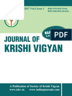 Journal of Krishi Vigyan vol  6 issue  1 ( July-Dec.,2017)