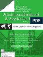 2011 Admissions Handbook