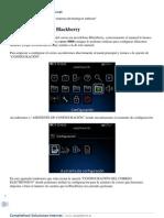 Configurar Correo en Blackberry