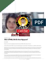 Ako Si PAB, Oh Eh Ano Ngayon_ _ Para Sa Bayan Tuloy Ang Laban