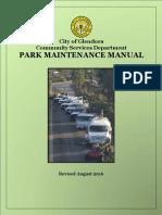 Park Maintenance Manual - City of Glendora, 2016