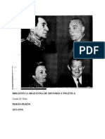 Di Tella Guido. Perón-Perón 1973-1976.